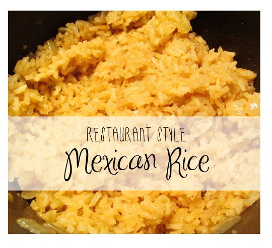 Restaurant Style Authentic Mexican Rice Recipe