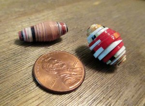 two beads side by side