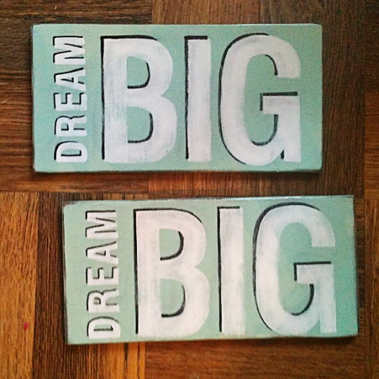 dream big helvetica